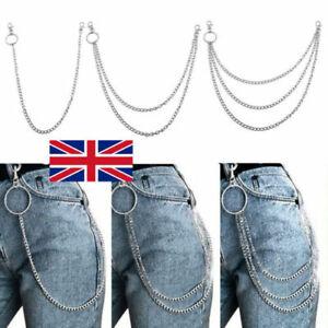 UK Mens Womens Bicycle Trouser Pant Chain Wallet Chains Biker Punk Hiphop Jean