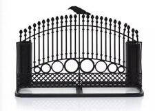Yankee Candle Raven Crow Night Halloween Taper Gate Fence Black Candle Holder