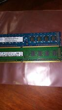 4GB = 2X 2GB 1RX8 DDR3 PC3-10600U DDR3-1333 256X8 8CHIPS 240PIN NON-ECC PC RAM