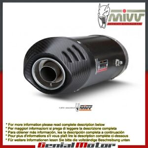 Mivv Approved Exhaust Mufflers Oval Carbon U Ducati Multistrada 1000 2006 > 2009