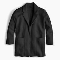 NWT J.Crew 365 Sophie in Black Open-Front Sweater Blazer Cardigan M $148