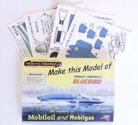 Micromodels DONALD CAMPBELL'S BLUEBIRD PROTOTYPE Micro New Models card model kit