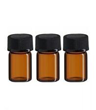 144 pcs 5/8 Dram (15x26mm) AMBER glass vials w/pp caps