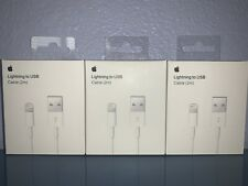 3 PACK ORIGINAL OEM Apple Lightning Cable Charger 2m/6ft iPhone 11 X 8 7 6s Plus