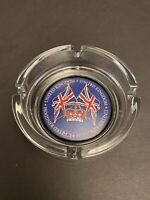 "United Kingdom Round Glass Ashtray Excellent Condition 4""x 4"""