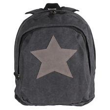 15501841c2feb Stern Rucksack Shopper Tasche Canvas Jeans Stoff Vintage Schulter Backpack  TOP