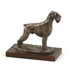 Schnauzer, Holz Statuette, Bronze, ArtDog, CH