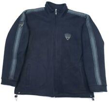 Ducati Corse Mens XL Full Zip Sof Fleece Sweater Jacket Mesh Lined Black Grey