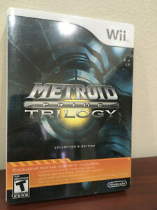 Metroid Prime Trilogy: 2009 Collector's Edition Nintendo Wii, Steelbook