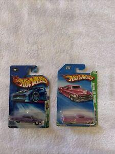 Hot Wheels 2004 Treasure Hunt Pontiac Bonneville 1965 & 2010 TH 53' Cadillac