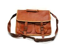 Genuine Leather Handmade Brown Messenger Shoulder Bag Vintage Laptop bag 33
