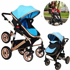 Pink 3 in1 Baby Kids Toddler Pram Stroller Pushchair Jogger With Bassinet Travel