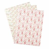 22*30cm Flamingo Printed Synthetic Leather Fabric Sheet DIY Hair Bow Materials