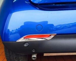 Chrome Rear Bumper Fog Light Frame Decoration Trim Fit For Smart Fortwo 2015-17