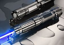 WBY6 450nm High Power Visible Blue Beam Laser Pointer Burn Boxset with 5 Caps