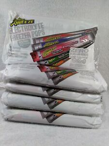 50 Sqweeze Electrolyte Freezer Pops Dragon Fruit Mixed Berry Orange Punch Waterm