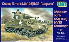 1/72 Wwii Medium Tank M4(105) Hvss Sherman Um 375 Models kits