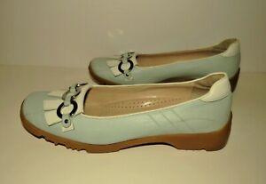 NEW Walter Genuin Italy Golf Shoes Blue Jackie Womens Sz 7.5 EU 38 Linea Stretch