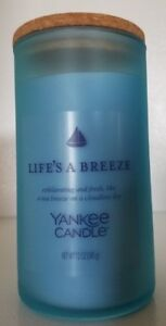 NEW Yankee Candle LIFE'S A BREEZE Frosted Seaglass Tumbler Candle Ltd. Edition