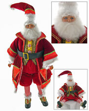 """Katherine's Collection Santa Claus doll Noel 28-628037  18"""" sit or stand"""