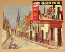 """VTG GUILD PICTURE PUZZLE JIGSAW """"Eglise de Strins"""" by Maurice Utrillo PARIS CIB"""