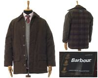 Mens BARBOUR Endurance Waterproof Quilt Jacket Quilted Coat Brown Size M
