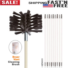 Flexible Dryer Vent Cleaning Kit, Lint Remover, Drill Extends up 12 Feets 9 Rods