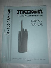 1997 MAXON SP-120 Service MANUAL for Hand Held Two-Way Radio Maintenance