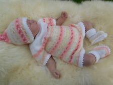 i*believe*in*angels JIG A JIG 4 PCE PEACH SET FOR A 0/3 MONTH BABY / REBORN FOLL