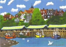 RYE FISHING DOCKS 2 EAST SUSSEX LIMITED EDITION PRINT BY MICHAEL PRESTON
