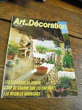 revues art et décoration n° 264 escaliers de jardin meubles normands