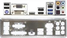 ATX Blende I/O shield ASRock B75 Pro3-M #492 io NEU backplate bracket Slotblech