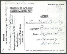 POW Camp 16 Aberlady 1946 German Prisoner of War Kriegsgefangenenpost (A27)