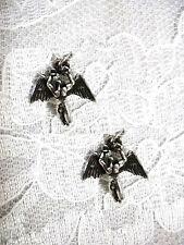 NEW CELTIC SWAN SONG ANGEL LED ZEPPELIN CHARMS ICARUS PEWTER DANGLING EARRINGS