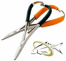 NEW Wm Joseph Blaze Orange Stainless Steel Mitten Clamp Non-Slip Grippy Handles