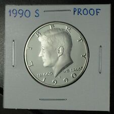 1990-S PROOF JOHN F KENNEDY HALF DOLLAR DEEP CAMEO COPPER-NICKEL CLAD