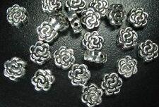 40pcs Tibetan silver flower spacer beads h2443