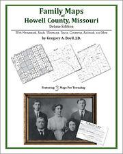 Family Maps Howell County, Missouri Genealogy MO Plat
