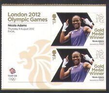 GB 2012 Olimpiadas/Deportes/ganadores de medalla de oro/Boxeo/Nicola Adams 2v + Lbl n35661a