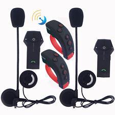 2x Motorcycle Bluetooth Intercom Remote Control Rider Headset Interphone 1000m