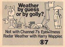 1972 KIRO SEATTLE TV AD~HARRY WAPPLER~EYEWITNESS RADAR WEATHER CHANNEL 7