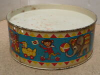 Early Old Tinplate Drum