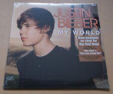 JUSTIN BIEBER My World 2016 European vinyl LP + MP3 SEALED Usher