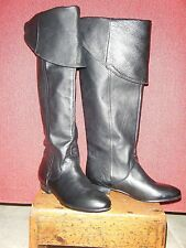 Chinese Laundry Womens SOUTH BAY Black Leather Over Knee Tall Boots 6 New 6137
