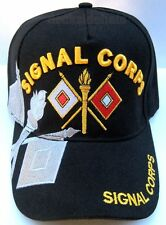 U S  ARMY SIGNAL CORPS Cap/Hat Adjustable Black Military*Free Shipping