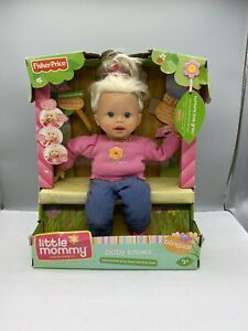 2007 Fisher Price Little Mommy Baby Doll  M 3096 Baby Knows Bilingual