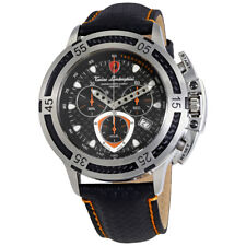 Lamborghini Wheels Black Dial Mens Chronograph Watch 2990-2