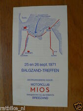 FLYER BALGZAND TREFFEN 25/26-9-1971 BREEZAND MOTORCLUB MIOS