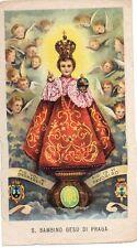 370/C S. Bambino Gesù di Praga Santino Holycard