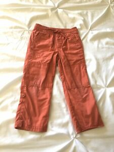 Baby Gap Toddler Boy Roll Up Drawstring Pants Spiced Coral Sz 3T